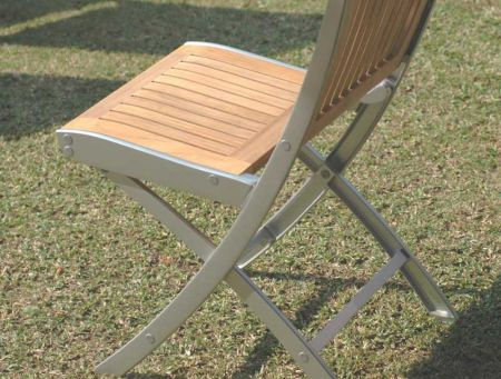 teak and alloy folding chair teakwoodcentral