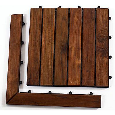 oiled teak le click tile floor teakwoodcentral