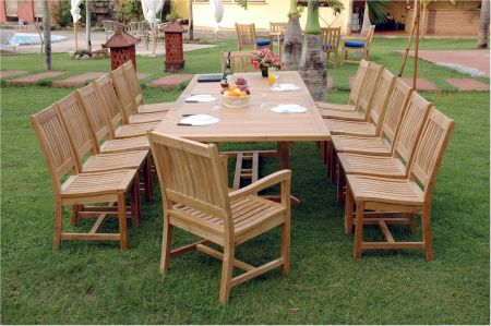 Anderson Valencia teak dining table and chairs set at Teakwood Central