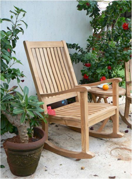 Teak Rocking Chair Father's Day Gift