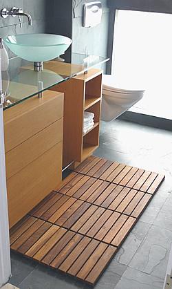 zen do it yourself teak tile bathroom floor mat teakwoodcentral