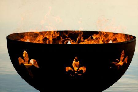 fleur de lis fire pit art teakwoodcentral