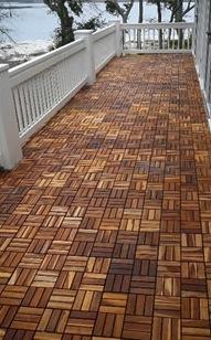 teak le click tile floor deck teakwoodcentral