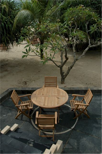 Anderson Bahama Teak Folding Table - Teakwoodcentral