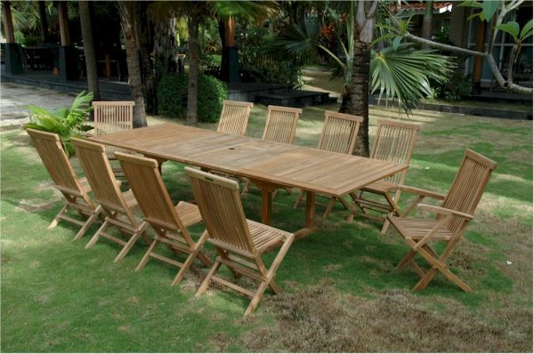 teak outdoor dining set anderson teak valencia