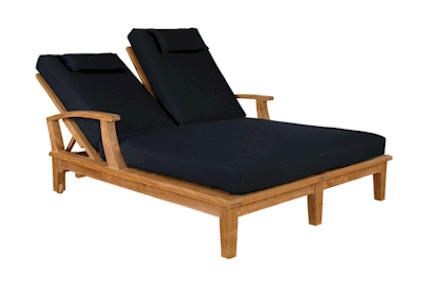 Brianna Teak Double Lounger at Teakwood Central