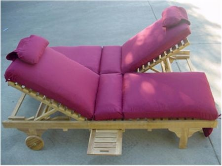 Double Teak Lounger at Teakwood Central